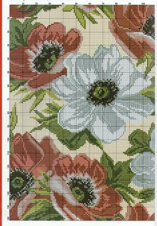 Подушка с цветами схема вышивки крестом часть 2.jpg