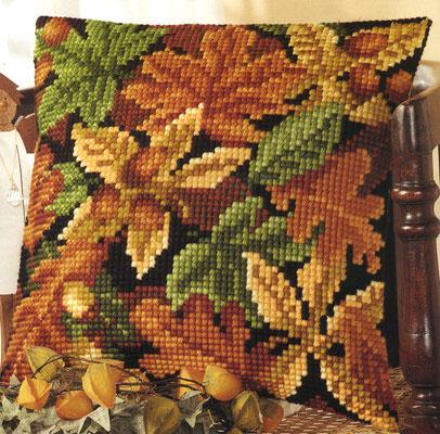 Вышитая подушка Осень 1.jpg